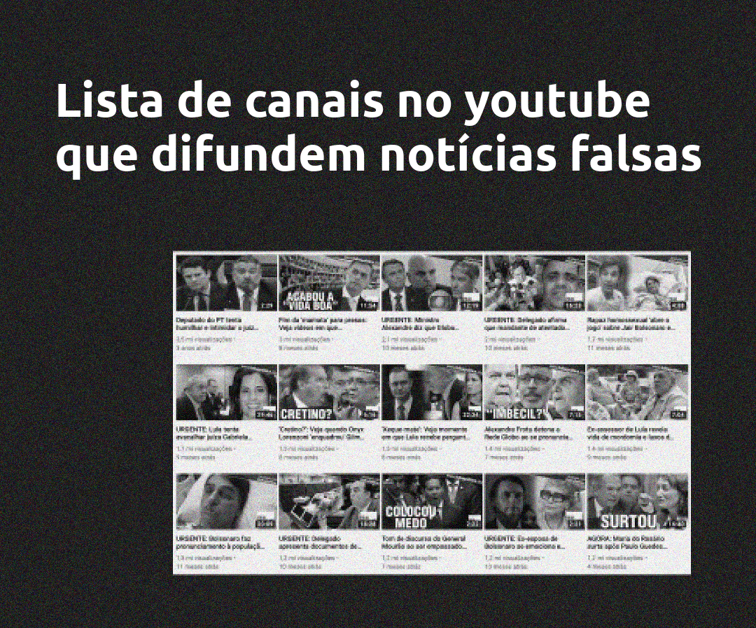 canais com fakenews no youtube